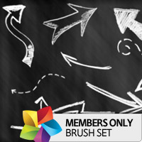 Premium Brush Set: Sketched Arrows