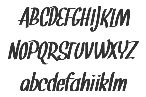 Fonts in nanopics calligraphy