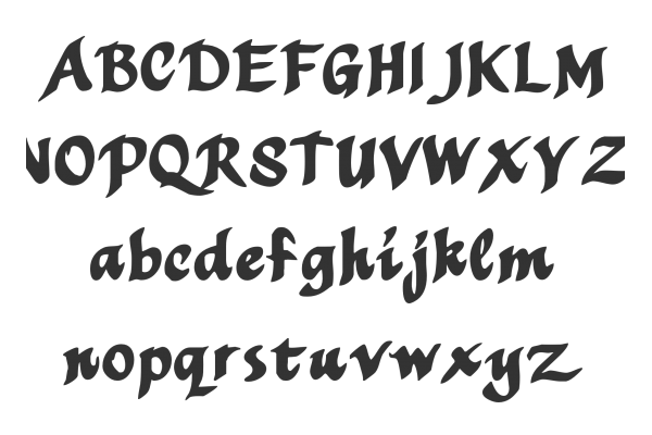 Calligraphy Writing Fonts Images