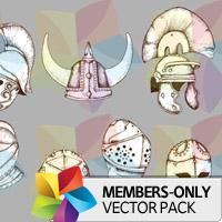 Premium Vector Pack: Helmets 2
