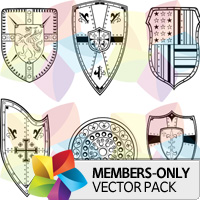 Premium Vector Pack: Shields