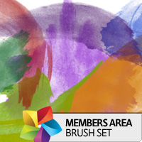 Premium Brush Set: High Res Watercolor Photoshop Brushes Set