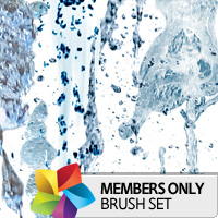 Premium Brush Set: Water Splashes