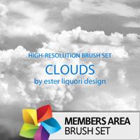 Premium Brush Set: Clouds