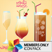 Premium Icon Pack: Drinks 2