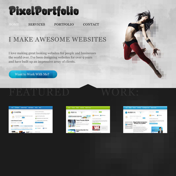 Design a Cool Pixelated Website Layout | PSDFan