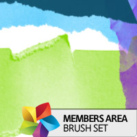 Premium Brush Set: Torn Paper