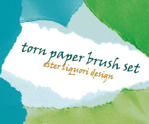 Premium Brush Set: Torn Paper