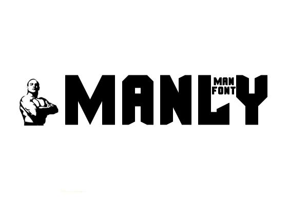 masculine fonts