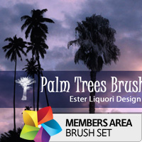 Premium Brush Set: Palm Trees