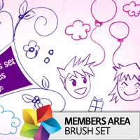 Premium Brush Set: Sketched Doodles