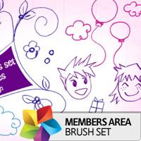Premium Brush Set: Sketched Doodles