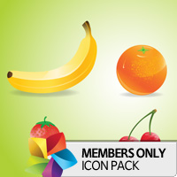 Premium Icon Pack: Fruit
