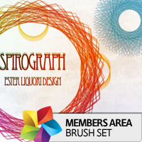 Premium Brush Set: Spirograph