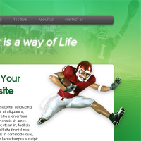 Design a Super Sleek Sports Web Layout