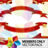 Premium Vector Pack: Red Scrolls