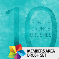 Premium Brush Set: Subtile Grunge