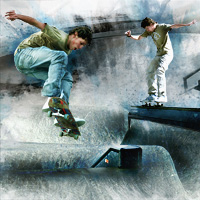Create a Grungy Skateboard Photo Montage Poster