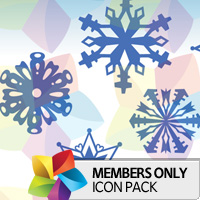 Premium Icon Pack: Snowflakes