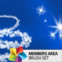Premium Brush Set: Sparkling Stars