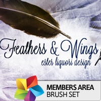 Premium Brush Set: Feathers and Wings