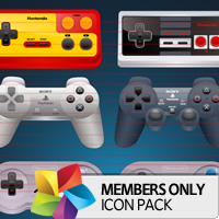 Premium Icon Pack: Game Controllers