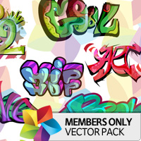 Premium Vector Pack: Graffiti