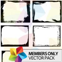 Premium Vector Pack: Grunge Frames