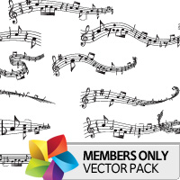 Premium Vector Pack: Music Scores