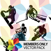 Premium Vector Pack: Winter Sports
