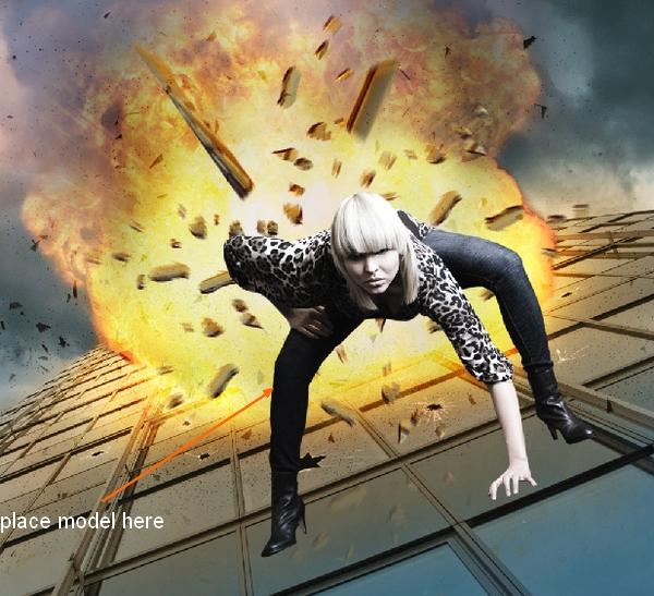 Explosion Background Photoshop