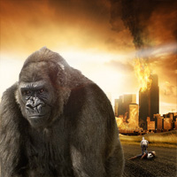 Members Area Tutorial: Photo Manipulate a Destructive Giant Gorilla Scene