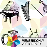 Premium Vector Pack: Hand-Drawn Musical Instruments