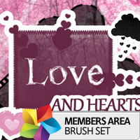 Premium Brush Set: Love and Hearts