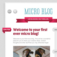 Members Area Tutorial: Design a Code Ready Micro Blog Layout
