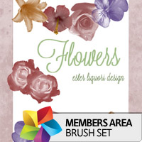 Premium Brush Set: Flowers
