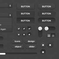 FanExtra Download: Dark UI Kit