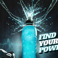 Design an Eye Catching Energy Drink Advertisement