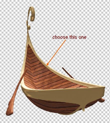 картинка лодка без фона