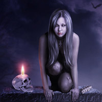 Members Area Tutorial: Photo Manipulate the Atmospheric Vampire Piece 'Nocturna'