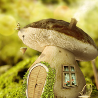 Members Area Tutorial: Create A Fantasy Mushroom House Photo Manipulation