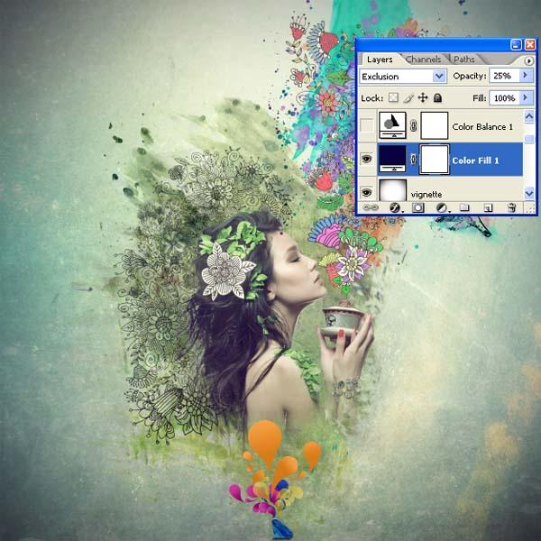 PS教程,设计一个迷人的拼贴图像 ps音画/图文教程 ,预览图98