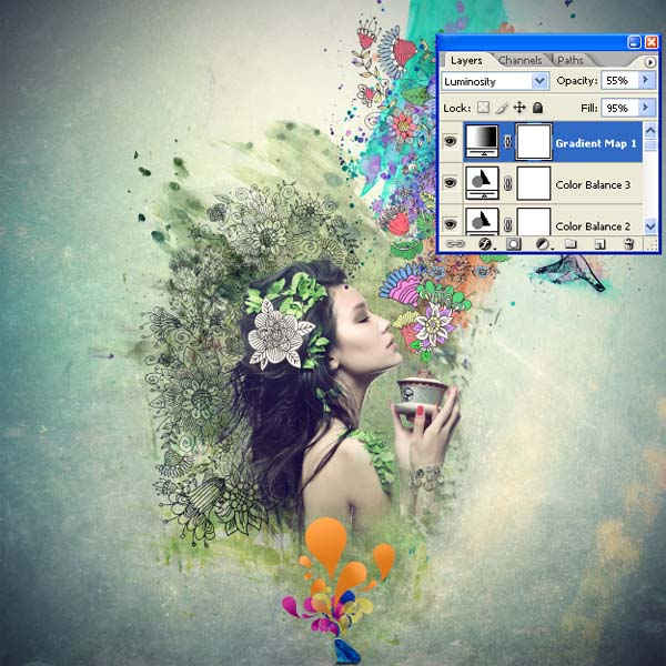 PS教程,设计一个迷人的拼贴图像 ps音画/图文教程 ,预览图106