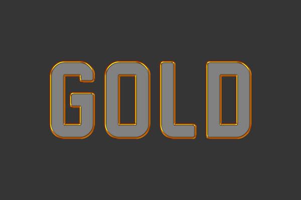 Объёмные золотые буквы в Photoshop