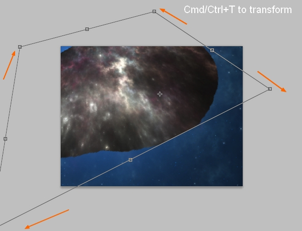how to add cyan star into sclepture