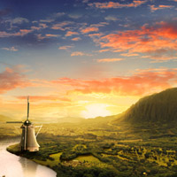 Members Area Tutorial: Create Beautiful Sunrise Landscape Matte Painting in Photoshop