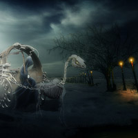 Photo Manipulate an Eerie Grim Reaper Scene in Photoshop