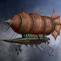 Members Area Tutorial: Create a Spectacular Fantasy Airship Scene