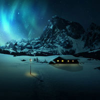 Members Area Tutorial: Create a Snowy Night Landscape Matte Painting