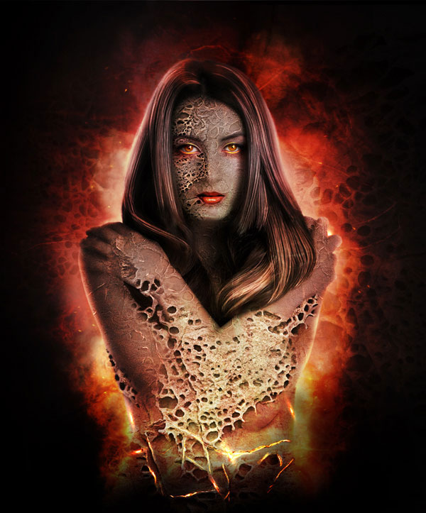 Create a Fantastically Textured Flaming Portrait